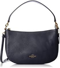 Coach Chelsea Polished Pebbled Navy Leather Cross-Body Bag