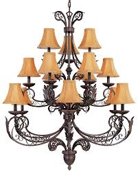 french quarter 15 light chandelier in oil rubbed bronze finish