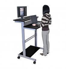 incredible stand up workstation black capt desks stand up computer desk designs
