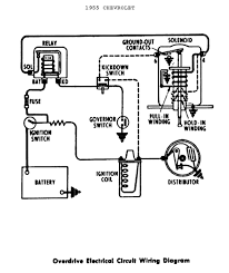 overdrive electrical circuit wiring diagram for 1955 chevrolet overdrive electrical circuit wiring for 1955 chevrolet passenger car