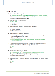 T Washington, Booker TWashington facts | GREAT SOCIAL STUDIES