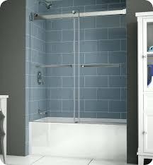 frameless hinged tub door oil rubbed bronze plus bypass sliding doors 1
