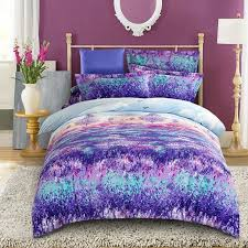 whole beautiful fashion purple lavender flower velvet flannel fabric bedding set queen king size duvet cover printed soft thick warm king size bedding