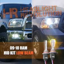 2007 Dodge Ram 2500 Fog Light Bulb Size 2009 2018 Dodge Ram Hid Headlights Upgrade Low Beam Hid Conversion Kit