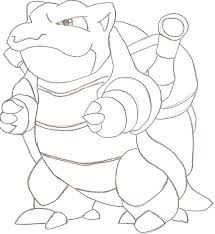 Small Picture How To Draw Mega Blastoise Step By Step Pokemon Characters In