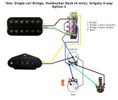 tele single coil bridge humbucker neck wiring Humbucker Parallel Wiring click image for larger version name tele_hum_neck_4way_option3_v1 png views 4197 series parallel humbucker wiring