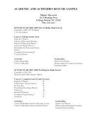 How To Write A College Resume Sample Activities Resume Examples Skinalluremedspa Com