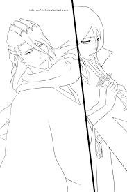 Byakuya And Rukia Kuchiki Lineart By