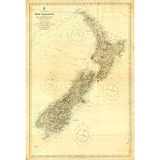 Meishe Art Vintage New Zealand Nautical Map Old Chart Home Wall Picture Art Decor