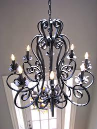 wrought iron lighting fixtures roselawnlutheran regarding modern wrought iron chandeliers 12 of 12