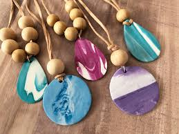 essential oil diffuser pendants with sculpey souffle clay