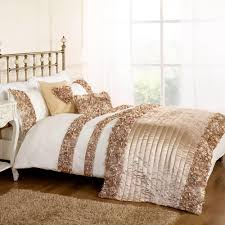 roses double duvet set gold free delivery