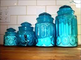 blue kitchen canisters cobalt