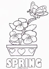 Spring Coloring Pages For Kids Printable With Spring Coloring Pages