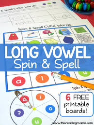 Long Vowel Spelling Game (CVCe Words) - Spin and Spell