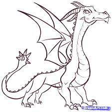 How To Draw Easy Dragons Step 17 Coloring Pinterest Dragons