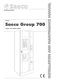 Vending Machine Manual Delectable SAECO GROUP 48 VENDING MACHINE INSTALLATION AND MAINTENANCE MANUAL