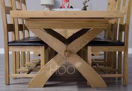 oak dining table. Chatsworth Oak X-Leg Extending Dining Table I