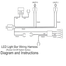 Emergency Lighting Wiring Instructions 5 Pins Led Light Bar Driving Switch Relay Rocker Wiring In