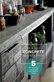 Diy Kitchen Counters Best 25 Diy Concrete Countertops Ideas On Pinterest Concrete
