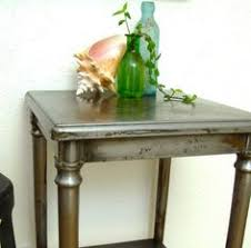 vintage industrial simmons metal side table. Vintage Industrial Table 1920s Bare Steel Furniture Simmons Metal Side N