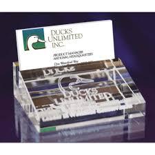 3d Laser Engraved Crystal Business Card Holder Lasting Impressions