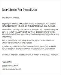 sle debt collection demand letter