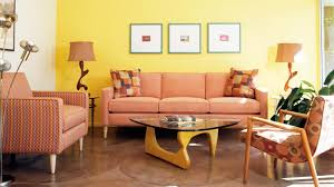 orange living room furniture. Image Of: Mid Century Living Room Design Orange Furniture O