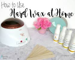 how to use hard wax at home