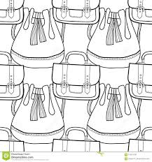 Borse Alla Moda Modello Senza Cuciture In Bianco E Nero Delle Borse