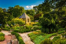 view of the bi s garden at the washington national cathedral in washington d c