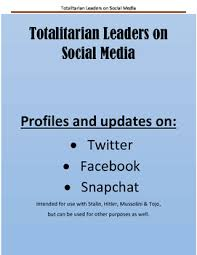 totalitarian leaders totalitarian leaders on social media by teachersaurus tpt