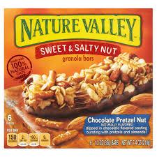 nature valley granola bars sweet salty chocolate pretzel nut 6 ct walmart