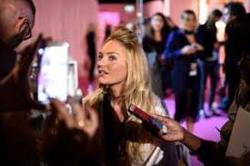 candice swanepoel on the backse of 2016 victoria s secret fashion show