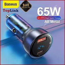Review tẩu sạc xe hơi baseus hỗ trợ sạc nhanh - củ sạc điện thoại trên ô tô  65w 1 cổng usb + 1 cổng type-c