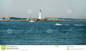 Bud Light Lighthouse Boston Light Oldest Lighthouse In Usa Stock Photo Image Of