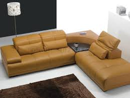 corner sofas with table. Simple Table Camel Leather Modern Sectional Sofa WAdjustable Headrests In Corner Sofas With Table O