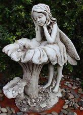 fairy garden statues. Delighful Statues Large Fairy Bird Feeder Bath Statue Figurine Ornament Garden Sculpture Poly Intended Statues D