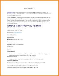 Hospitality Resume Example Carpenter Resume
