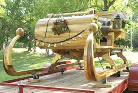 gregg turk a one of a kind masterpiece gregg turk a member of the fraternal order of real bearded santas forbs built this sleigh from the wood of one
