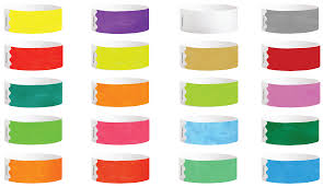 Tyvek Wristbands Solid Colors L