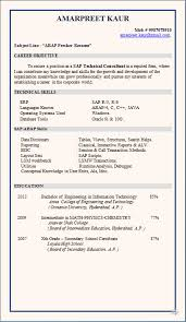 Terrific Sap Sd Fresher Resume Format 67 With Additional Resume Examples  With Sap Sd Fresher Resume
