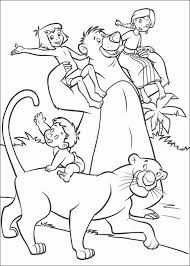 Small Picture Jungle Book Coloring Pages fablesfromthefriendscom