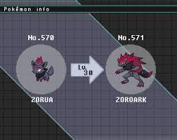 Zorua Evolution Chart Pokemon Life