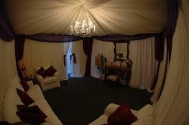 off white chiffon full canopy d with medium crystal chandelier bella vista designs