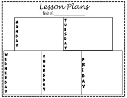 Blank Lesson Plan Templates Blank Lesson Plan Template By Manicmiddleschoollady Tpt