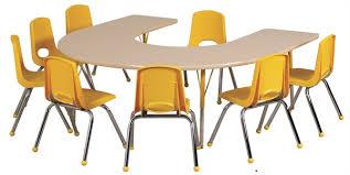 astor half round height adjule school activity table