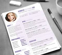 Modern Graphic Resume Template 21 Stunning Creative Resume Templates