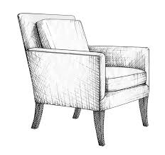 chair drawing. illustration by anara mambetova-finkelstein for bauer and dean publication \ chair drawing