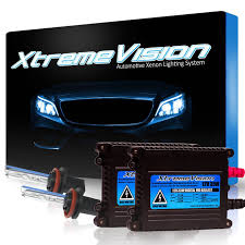 com xtremevision 35w hid xenon conversion kit with premium slim ballast h11 10000k dark blue 2 year warranty automotive